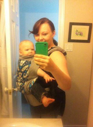 Babywearing in our new Tula!