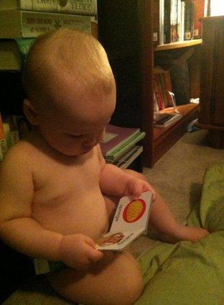 He loves books