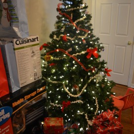 Our tree and some of the presents. We are blessed