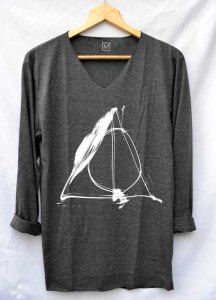 Oversized slouchy Deathly Hallows long sleeved shirt