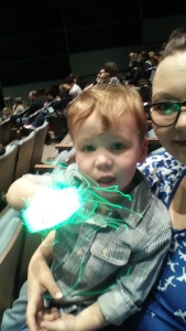 Liam and I at Dinosaur Train