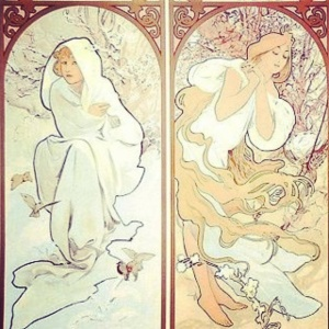 Mucha's seasons (just winter and spring)